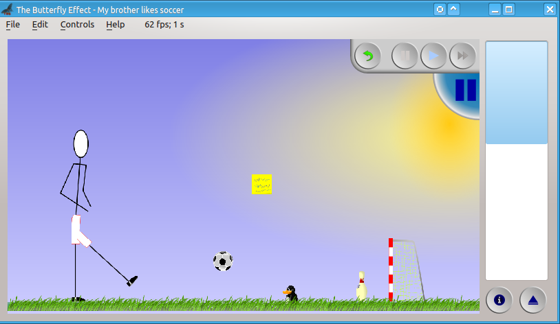 New level brother plays soccer with our penguin